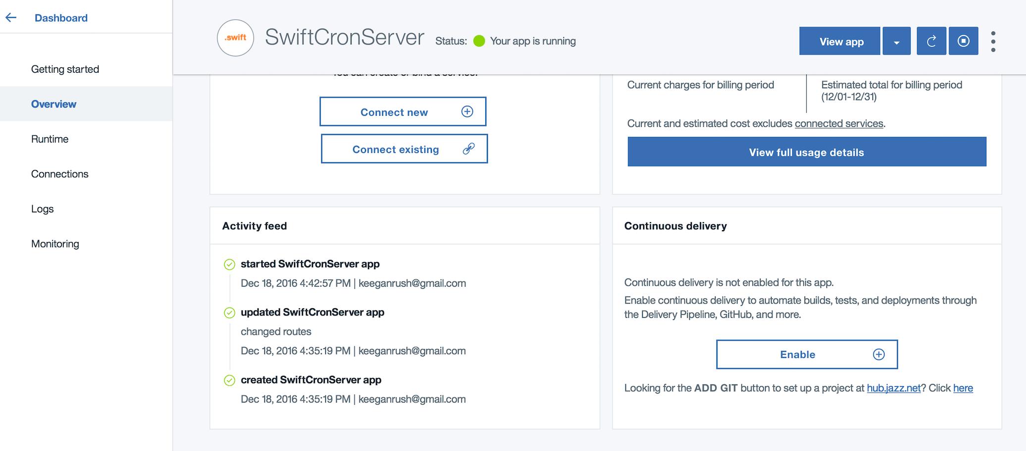 Bluemix enable continuous delivery