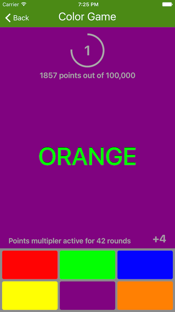 Color Game iOS App